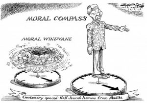 Moral Compass: Political cartoon of Nelson Mandela by Zapiro