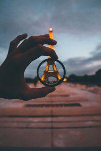 Eiffel Tower Seen Through a Lens